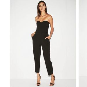 Express strapless sweetheart jumpsuit